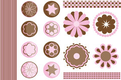 De elementen van het ontwerp voor plakboek. Royalty-vrije Stock Afbeeldingen