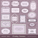 De elementen van het ontwerp voor uitnodigingen vector illustratie