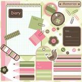 De elementen van het plakboek Stock Foto