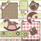 De elementen van het plakboek Stock Foto's