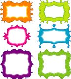 De elementen van het plakboek voor ontwerp,   Stock Afbeelding