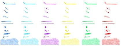 De elementen van het potloodontwerp Stock Afbeelding