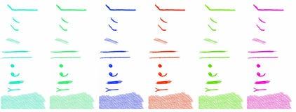 De elementen van het potloodontwerp Stock Afbeeldingen
