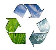 De Elementen van het recycling Stock Foto
