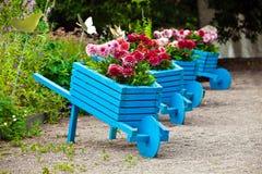 De elementen van het tuinontwerp het modelleren Stock Foto