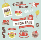 De elementen van het verkoopontwerp Stock Afbeeldingen