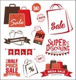 De elementen van het verkoopontwerp Stock Foto