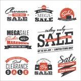 De elementen van het verkoopontwerp Stock Foto's