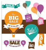 De elementen van het verkoopontwerp Stock Afbeelding