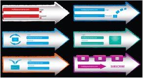 De elementen van het Web Stock Afbeeldingen