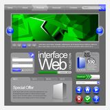 De Elementen van het Web UI Royalty-vrije Illustratie
