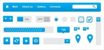 De elementen van het Web UI Royalty-vrije Stock Afbeeldingen