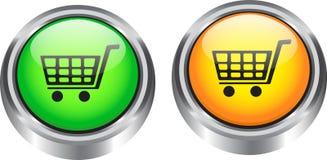 De elementen van het Web voor elektronische handel Royalty-vrije Stock Foto's