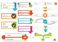 De Elementen van het Webontwerp Royalty-vrije Stock Afbeelding