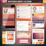 De elementen van het Webontwerp Stock Afbeelding