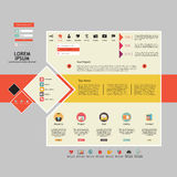De elementen van het Webontwerp. Malplaatjes voor website. Stock Afbeelding
