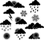 De elementen van het weer, vector Stock Foto