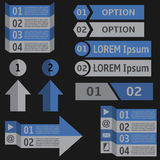 De elementen van Infographic Stock Foto's