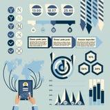 De elementen van Infographic Stock Afbeelding