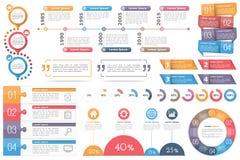 De elementen van Infographic Royalty-vrije Stock Foto's