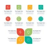 De elementen van Infographic Eigenschappen Royalty-vrije Stock Afbeelding