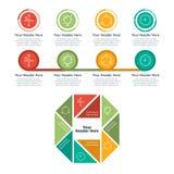 De elementen van Infographic Eigenschappen Stock Afbeelding