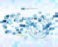 De elementen van Infographic Futuristisch gebruikersinterface HUD Abstracte achtergrond met het verbinden van punten en lijnen aa Stock Afbeelding