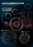 De elementen van Infographic futuristisch gebruikersinterface HUD UI UX Abstracte achtergrond met het verbinden van punten en lij Royalty-vrije Stock Foto