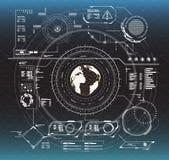 De elementen van Infographic Head-up vertoningselementen voor het Web en app Futuristisch gebruikersinterface Virtuele grafisch royalty-vrije illustratie