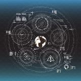 De elementen van Infographic Head-up vertoningselementen voor het Web en app Futuristisch gebruikersinterface Virtuele grafisch stock illustratie