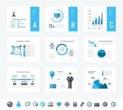 De elementen van Infographic van de technologie Stock Afbeeldingen