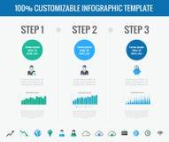 De elementen van Infographic van de technologie Royalty-vrije Stock Fotografie