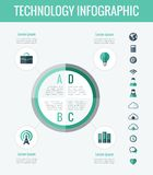 De elementen van Infographic van de technologie Royalty-vrije Stock Afbeelding