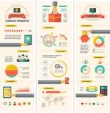De elementen van Infographic van de technologie Stock Foto