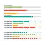 De elementen van Infographic Vooruitgangsbar Royalty-vrije Stock Afbeeldingen
