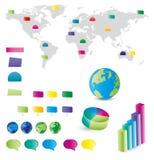 De Elementen van Infographics Royalty-vrije Stock Foto's