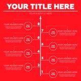 De elementen van Infographics Acht stappen Stock Foto