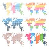De elementen van Infographics De kaart van de wereld Stock Afbeelding