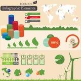 De elementen van Infographics. Ecologie stock illustratie