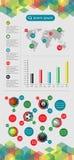 De elementen van Infographics en van het Web Stock Afbeeldingen