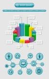 De elementen van Infographics en van het Web Royalty-vrije Stock Foto's