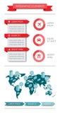 De elementen van Infographics en van het Web Stock Fotografie