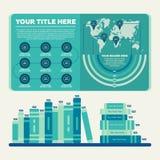 De elementen van Infographics Grafiek en cirkeldiagram Royalty-vrije Stock Foto's