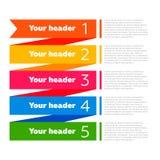 De elementen van Infographics Procesdiagram Stock Afbeelding