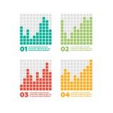De elementen van Infographics Vooruitgangsbar Royalty-vrije Stock Foto's