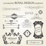 De elementen van Kaligraphic Royalty-vrije Illustratie