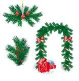 De elementen van Kerstmis vector illustratie