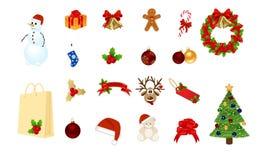 De elementen van Kerstmis Stock Foto's