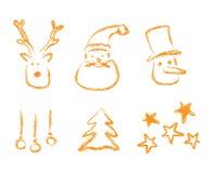 De elementen van Kerstmis Royalty-vrije Stock Afbeelding