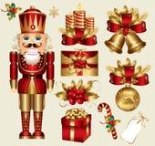 De elementen van Kerstmis Stock Afbeelding